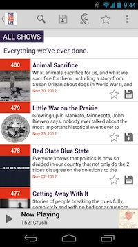 This American Life Android app screenshot 3